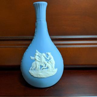 ウェッジウッド(WEDGWOOD)のWEDGWOODウェッジウッドジャスパーペールブルー一輪挿し(花瓶)
