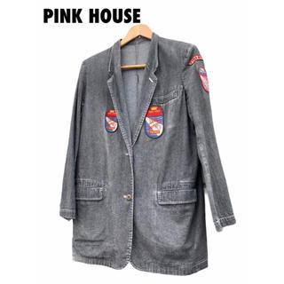 ピンクハウス(PINK HOUSE)の【 PINK HOUSE 】デニムジャケット ワッペン多数(Gジャン/デニムジャケット)