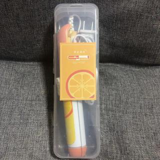 フルーツ オレンジ 2ウェイ ミニヘアアイロン(ヘアアイロン)