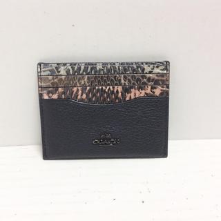 コーチ(COACH)のコーチ カードケース - 12072 黒×マルチ(名刺入れ/定期入れ)