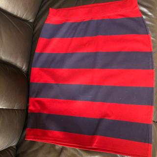 バックナンバー(BACK NUMBER)のボーダースカート(ひざ丈スカート)