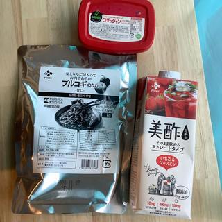 コストコ(コストコ)の【コストコ】プルコギのたれ、コチュジャン、美酢(調味料)