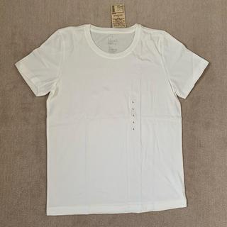 MUJI (無印良品) - 【新品】無印 クールネック半袖Tシャツ 白 Lサイズ