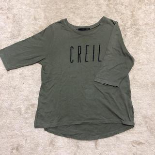 ヘザー(heather)のヘザー Tシャツ フリーサイズ カーキ(Tシャツ(半袖/袖なし))