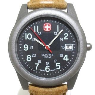 ウェンガー(Wenger)のWENGER(ウェンガー) 腕時計 - メンズ 黒(その他)