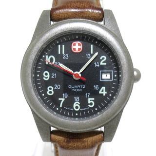 ウェンガー(Wenger)のウェンガー 腕時計 - レディース 黒(腕時計)