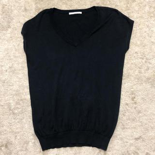 スライ(SLY)のスライ トップス ブラック Vネック(Tシャツ(半袖/袖なし))