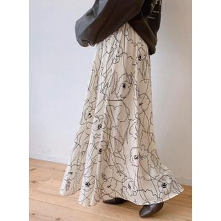 アンティローザ(Auntie Rosa)のVANNIE U<新品>ニュアンスフラワースカート(ロングスカート)