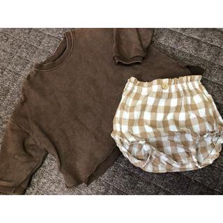 韓国子供服 トップスとかぼちゃパンツ