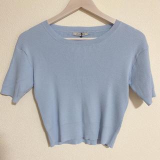 リップサービス(LIP SERVICE)の涼しげ トップス 半袖ニット(Tシャツ(半袖/袖なし))