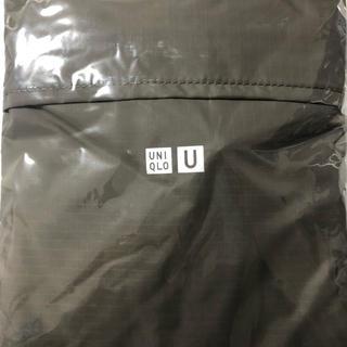 ユニクロ(UNIQLO)のユニクロU オリジナルポケッタブルトートバッグ グレー(エコバッグ)