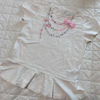 メゾピアノ(mezzo piano)のメゾピアノ 140 Tシャツ リボン(Tシャツ/カットソー)