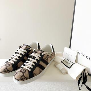 グッチ(Gucci)のGUCCI 絶版 ace スニーカー 8.5 27.5cm ウール GGロゴ(スニーカー)