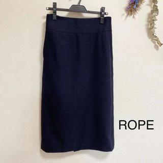 ROPE - ROPE 秋冬 ウール タイトスカート ロングスカート ネイビー