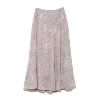 snidel - スナイデル 花柄 ミディマーメイドスカート