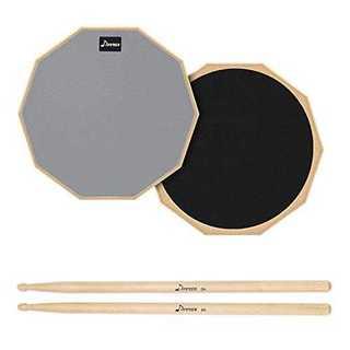8インチDonner ドラム練習パッド ドラム消音パッド ゴム製 ドラムスティッ(その他)