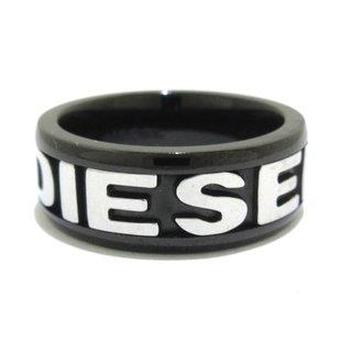 ディーゼル(DIESEL)のディーゼル リング美品  - 黒×シルバー(リング(指輪))