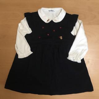 familiar - ファミリア ジャンパースカート(90) & ブラウス(90)