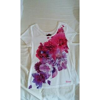 ダチュラ(DaTuRa)のDaTuRaダチュラフラワープリント半袖Tシャツ白ホワイト(Tシャツ(半袖/袖なし))