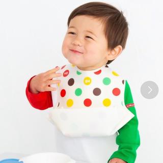 ホットビスケッツ(HOT BISCUITS)の【新品】 HOT BISCUITS 食べこぼしキャッチ!立体的ランチスタイ(お食事エプロン)
