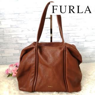 Furla - 正規品  美品 フルラ ハンドバッグ ボストンバッグ レザー ブラウン 142