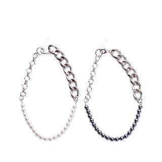 ジョンローレンスサリバン(JOHN LAWRENCE SULLIVAN)のchain pearl necklace White(ネックレス)