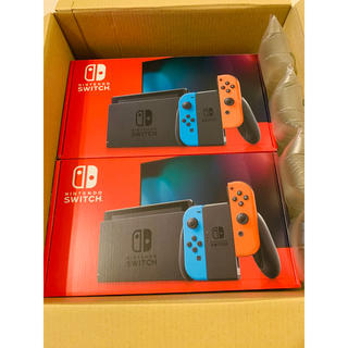 ニンテンドースイッチ(Nintendo Switch)の【Nintendo】Switch ネオンカラー 2台 任天堂 スイッチ(家庭用ゲーム機本体)
