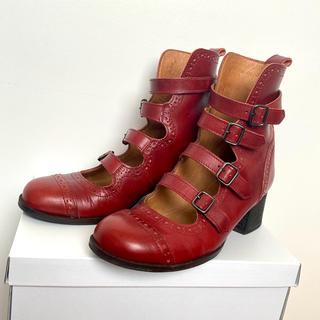 ジェーンマープル(JaneMarple)のジェーンマープル 本革4連ストラップシューズ Jane marple(ローファー/革靴)