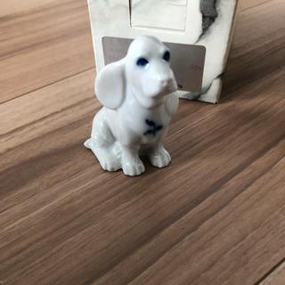 ロイヤルコペンハーゲン(ROYAL COPENHAGEN)の希少 ロイヤルコペンハーゲン 犬 フィギュリン(置物)