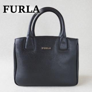 フルラ(Furla)のフルラ FURLA ハンドバック 2wayバック ブラック  正規品 美品(ハンドバッグ)