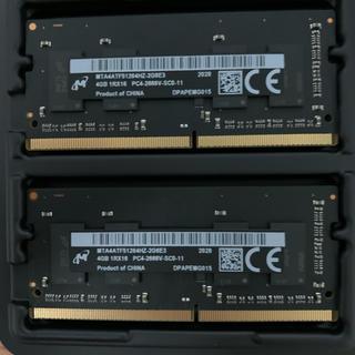 アップル(Apple)のiMac 2020 純正メモリ DDR4 2666 4GBx2 (Micron)(PCパーツ)