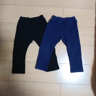 ムージョンジョン(mou jon jon)のストレッチパンツ 黒・ネイビー 二枚組(パンツ/スパッツ)