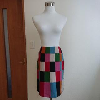 シビラ(Sybilla)のシビラ(未使用品)M 受注会圧縮ウール配色スカート(ひざ丈スカート)
