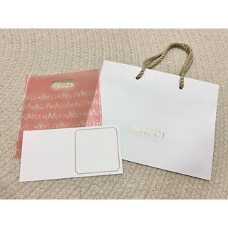 ハッチ(HACCI)のHACCI ショッパー、メッセージカード(ショップ袋)