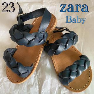 ザラキッズ(ZARA KIDS)のZARA Baby ザラベビー 靴 サンダル 14.5 ストラップ オシャレ♡(サンダル)