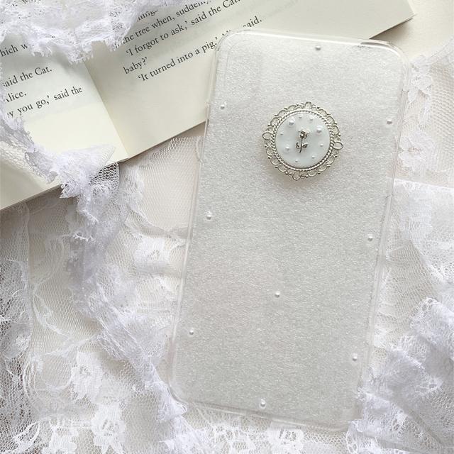 《103》˗ˏˋ シルバーチューリップ iPhoneケース ˎˊ˗ ハンドメイドのスマホケース/アクセサリー(スマホケース)の商品写真