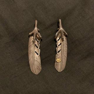 ゴローズ(goro's)のtady&king 銀爪フェザーセット Lサイズ(ネックレス)