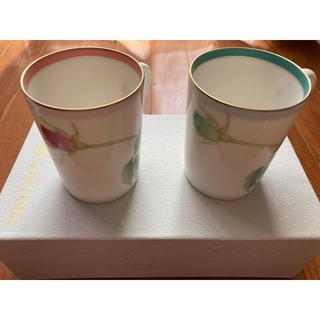 コウランシャ(香蘭社)の香蘭社 ブライトローズ ペアマグカップ(グラス/カップ)