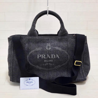 PRADA - ☆ギャランティ付・ブラック☆プラダ PRADA カナパ CANAPA  2way