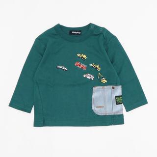 kladskap - クレードスコープ 働く車サイドポケット長袖Tシャツ 100 モスグリーン