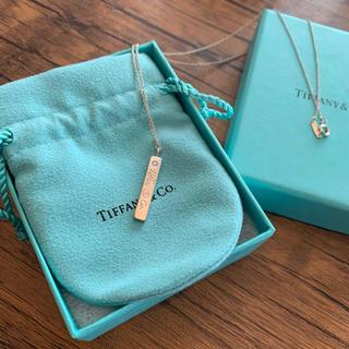ティファニー(Tiffany & Co.)のティファニー  Tiffany バーワンポイントダイヤネックレス(ネックレス)