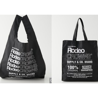 ロデオクラウンズワイドボウル(RODEO CROWNS WIDE BOWL)の新品ブラック2種セット※パッケージより取り出し畳直して発送します。御了承ください(エコバッグ)