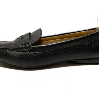 コーチ(COACH)のコーチ ローファー 23 レディース - 黒(ローファー/革靴)