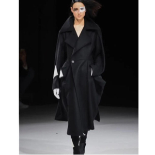 Yohji Yamamoto - ヨウジヤマモト コレクションラインコート 黒×白 上品 ¥275000
