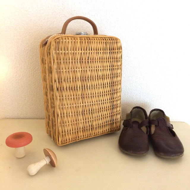 Caramel baby&child (キャラメルベビー&チャイルド)のヴィンテージ  バスケット ミニトランク B キッズ/ベビー/マタニティのこども用バッグ(その他)の商品写真