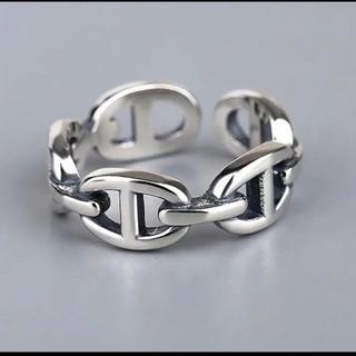 新品未使用 シルバーリング silver925 フリーサイズ 調節可能 男女兼用