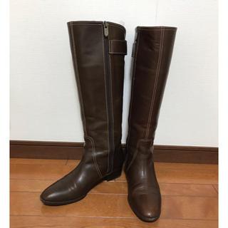ギンザカネマツ(GINZA Kanematsu)の銀座かねまつ 茶色ロングブーツ  23cm(ブーツ)