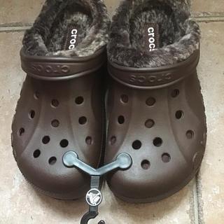crocs - クロックス ボア付き 茶色 23cm(USサイズ 7)