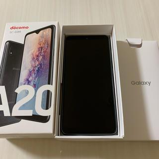 NTTdocomo - 美品 SIMフリー Galaxy a20 SC02M ブラック ドコモ