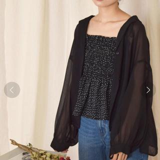 w closet - シアーシャツ ドットビスチェ セット
